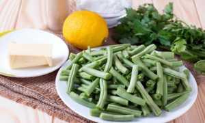 Блюда из зеленой фасоли замороженной