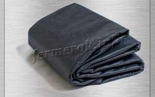 Черный спанбонд применение