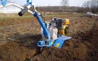 Обработка земли мотоблоком