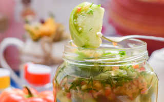 Рецепты из зелёных помидор на зиму