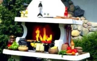 Печь мангал для дачи