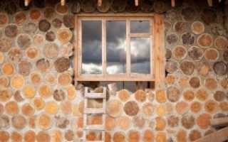 Дома из чурбаков и глины