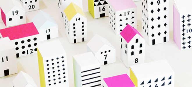Адвент календарь домики шаблоны