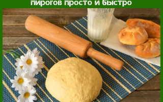 Тесто для пирожков простой рецепт