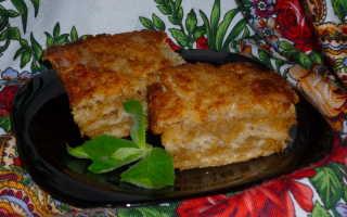 Пирог из сухих ингредиентов