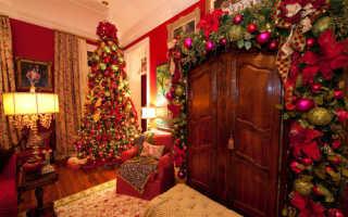 Рождественский дизайн интерьера