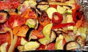 Рецепт запеченных овощей в духовке