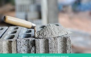 Из чего делается цемент состав