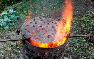 Как сжигать мусор в бочке