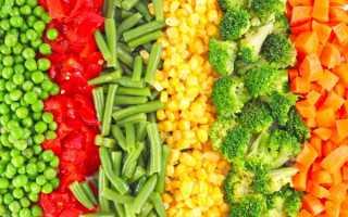 Свежемороженые овощи