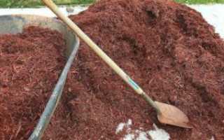Мульчирование почвы осенью