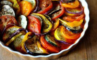 Как запечь в духовке овощи нарезанные