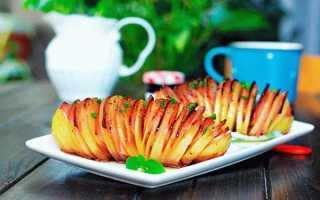 Картофель с ветчиной и сыром в духовке