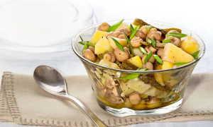Салат с грибами маринованными шампиньонами