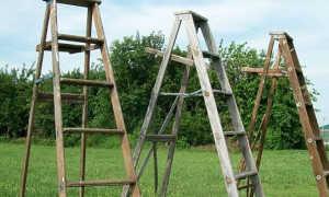 Лестница садовая деревянная