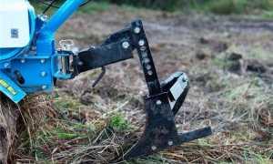 Обработка почвы мотоблоком